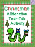 Christmas Alliteration Tear Tab Activity