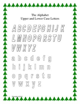Christmas Alphabet Activities Updated