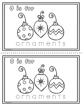 Christmas Alphabet Booklet NO PREP