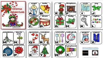 Christmas Alphabet Cards