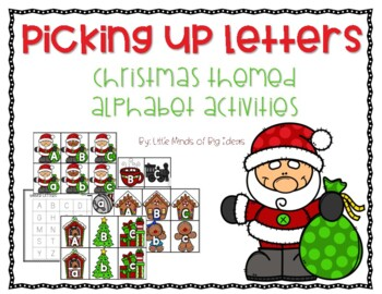 Holiday Alphabet Card Activities: Letter Recognition and Handwriting