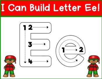 Christmas Fine Motor Alphabet Center A-Z