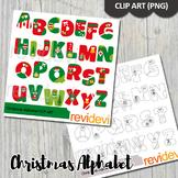 Christmas Alphabet Clip Art Bundle