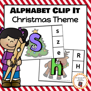 Christmas Alphabet Clip Cards