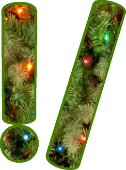 Christmas Alphabet Clip Set Commercial and Personal Use