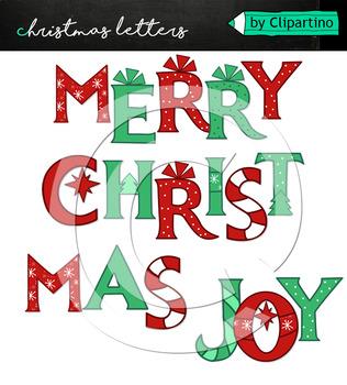 Christmas Alphabet Clipart #4 classical
