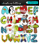 Christmas Alphabet  Clipart Bundle
