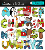 Christmas Alphabet Clipart Letters