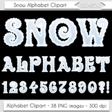 Christmas Alphabet Clipart Snow Alphabet Winter Alphabet L