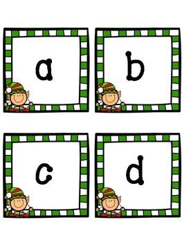 Christmas Alphabet Flashcards