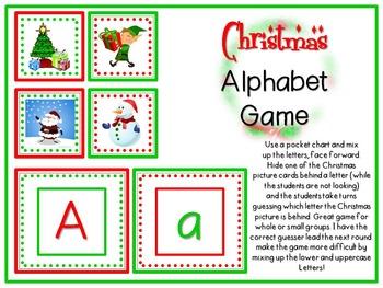 Christmas Alphabet Game