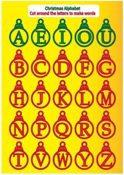Christmas Alphabet Games 1 & 2 - CHRISTMAS BUNDLE (English)
