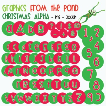 Christmas Alphabet - Graphics From the Pond