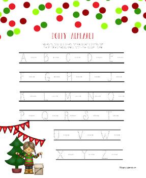 Christmas Alphabet Hand Writing Practice