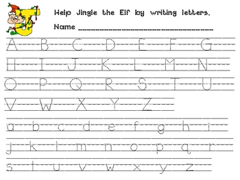 Worksheets Letter Practice christmas alphabet handwriting practice for by melissa williams kindergarten o