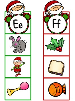 Christmas Alphabet Letter Identification/Sound Activities