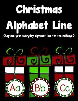 Christmas Alphabet Line