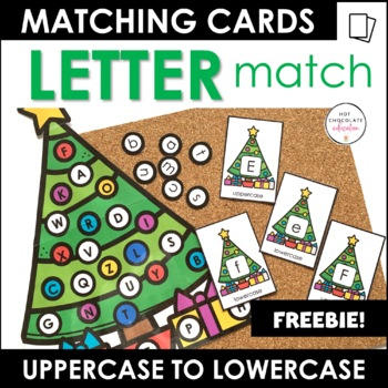 Christmas Alphabet  Match - Uppercase Lowercase Letter Recognition Activity