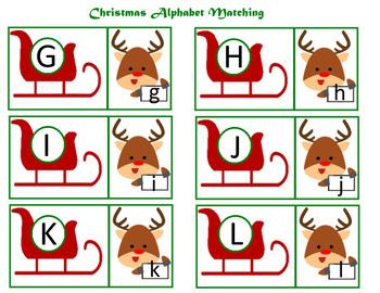 Christmas Alphabet Matching