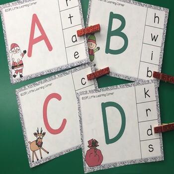 Christmas Alphabet Matching Clip Cards