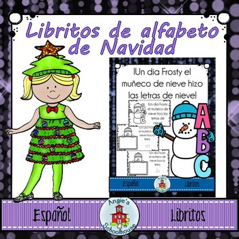 Christmas Alphabet Mini Books in Spanish