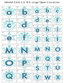 Christmas Alphabet & Number Cover Up