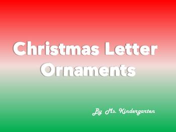 Christmas Alphabet Ornaments
