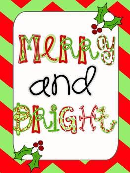 Christmas Alphabet {Primary Polka Dots Clip Art}