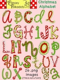 Christmas Alphabet {Primary Polka Dots Clip Art}