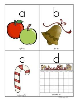 Christmas Alphabet Sound Flashcards