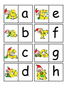 Christmas Alphabet Tasks for Autism