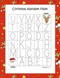 Christmas Alphabet Tracing Mazes (3 Total)