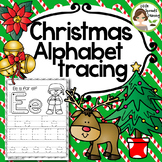 Christmas Alphabet Tracing Practice (Print Handwriting Practice)