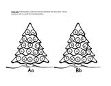 Christmas Alphabet Trees