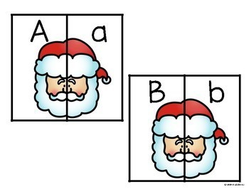 Christmas Alphabet Upper/Lowercase Matching
