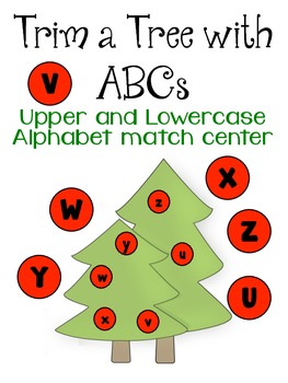 Christmas Alphabet Upper and Lowercase Match Center