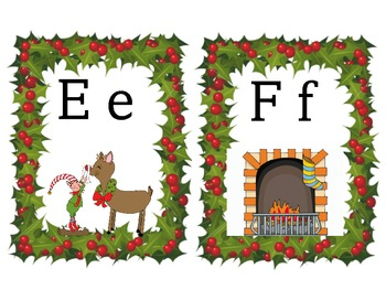 Christmas Alphabet Wall Chart for December