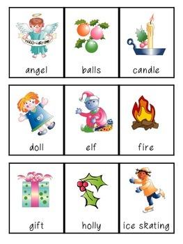 Christmas Alphabet and Phonemic Awareness 3-part Cards