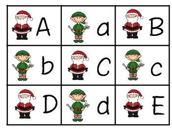 Christmas Alphabet and Primer Sight Words Memory Game