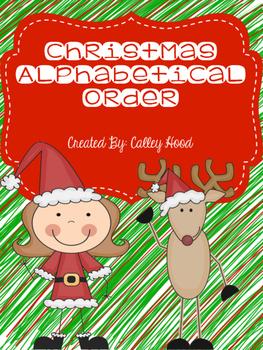 Christmas Alphabetical Order