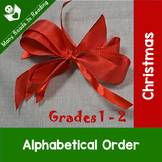Christmas Alphabetical Order Grades 1-2