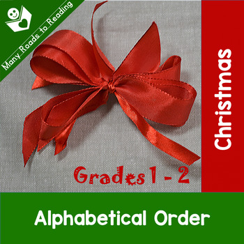 Christmas Alphabetical Order: Grades 1-2