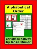 Christmas Alphabetical Order Task Cards
