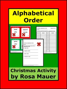 Christmas Alphabetical ABC Order Review