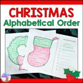 Christmas Alphabetical Order Literacy Center