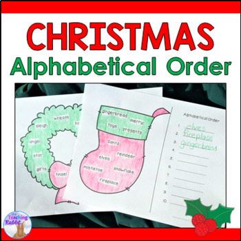 Christmas Alphabetical Order Literacy Center