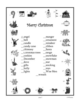 Christmas Alphabetics Lesson Plan