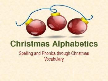 Christmas Alphabetics PowerPoint