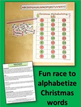 Christmas Alphabetizing Game