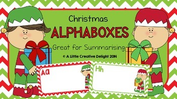Christmas Alphaboxes